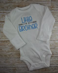 Little Brother, baby boy, bodysuit, baby boy clothes, Baby boy take home outfit, bring home outfit, hospital, arrow, blue, grey, twins, set by LittleQTCouture on Etsy https://www.etsy.com/listing/247270663/little-brother-baby-boy-bodysuit-baby