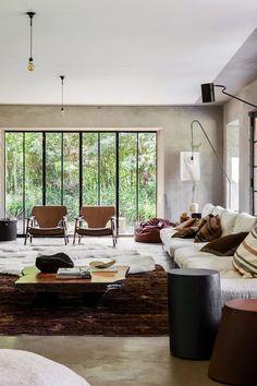 cozy & warm + shapes & views | via Handsome Sexy Man Rooms ~ Cityhaüs Design