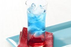 4th of July Kiddie Mocktail - more good ideas in the comments & can use club soda instead of diet soda for the clear layer