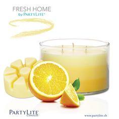 Fresh Home by PartyLite: 3-Docht Duftwachsglas Fresh Zitrus-Nektar / Pot à bougie 3 mèches Nectar de Ctiron Frais