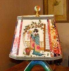 Asian Style Lampshade - Geisha Custom Made Lamp Shade