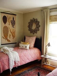 lots of texture & color in a neutral room