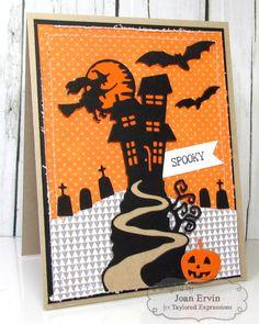 Spooky Card by Joan Ervin #Cardmaking, #Halloween, #LittleBitsDies