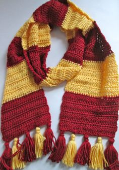 Crochet Hogwarts Scarf Made to Order by ElleYarnCreations on Etsy, $25.00