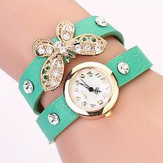 Koshi 2014 Bow Diamonade 2 reloj redondo de la Mujer (Verde) – USD $ 2.99