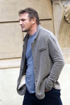 Liam Neeson Photos: Paul Haggis Films in Rome