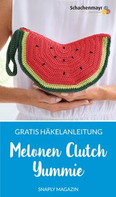 Melonen-Clutch häkeln – Häkelanleitung kostenlos #snaplymagazin #häkeln