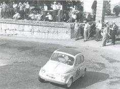 """Bologna - San Luca 1958, curva delle """"Orfanelle"""" : Giovanni Kerschbauner su 500."""