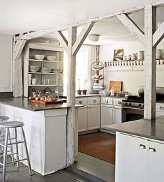 Stunning Modern Rustic Farmhouse Kitchen Cabinets Ideas - Page 43 of 118 Farmhouse Kitchen Cabinets, Farmhouse Style Kitchen, Modern Farmhouse Kitchens, Tuscan Kitchens, Kitchen Sinks, Kitchen Canisters, Kitchen Dishes, Kitchen Backsplash, Rustic Country Kitchens