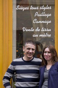 """Tapisserie Delin - Paris XIVème - Sandrine et Lionel - Avez-vous un rituel sur votre lieu de travail ? """"Le petit café du matin et c'est parti!"""""""