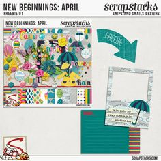FREE New Beginnings April Freebie 01 by Snips and Snails Designs