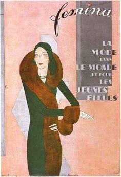 — whisters: Art Deco Cover of Femina Magazine....