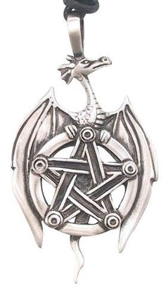 Pentagram Star Dragon Pewter Pendant Necklace, http://www.amazon.com/dp/B00064UUGO/ref=cm_sw_r_pi_awdm_vcgVtb1914J2J