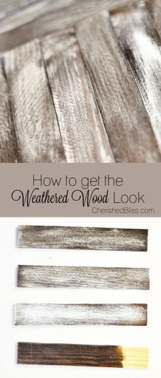 Do you love the weathered wood furniture look in your home? Try these DIY  tips