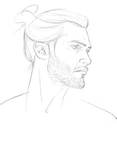 fan art by andavs - Derek Hale with a man bun, in all its glory - Teen Wolf