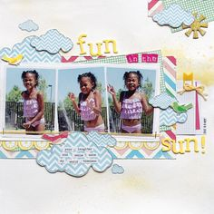 Fun in the Sun by Rochelle Spears - Scrapbook & Cards Today - Canada's scrapbooking magazine