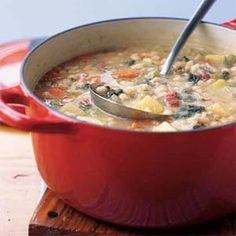 Navy Bean Soup | MyRecipes.com #vegetables #protein #myplate