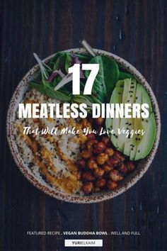 Although a good chunk of my diet is made up of plant-based foods, I'm not a vegan. But I know firsthand there are tons of meatless meals that appeal to everyone, not just people who choose not to eat meat. So without further ado, here are 17 recipes you Plant Based Recipes, Veggie Recipes, Whole Food Recipes, Cooking Recipes, Healthy Recipes, Plant Based Meals, Supper Recipes, Plant Base Diet Recipes, Dessert Recipes