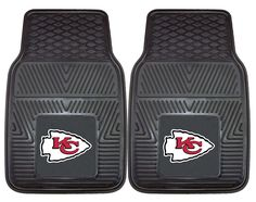 Kansas City Chiefs Heavy Duty Vinyl Front Seat 2 Piece Car Mat Set