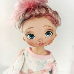 Doll Face Paint, Little Darlings, Lana, Art Dolls, Doll Clothes, Disney Princess, Disney Characters, Handmade, Painting