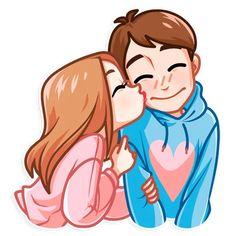 Cute Cartoon Pictures, Cute Love Gif, Cute Love Pictures, Cute Couple Drawings, Cute Couple Art, Cute Drawings, Love Cartoon Couple, Girl Cartoon, Cartoon Art