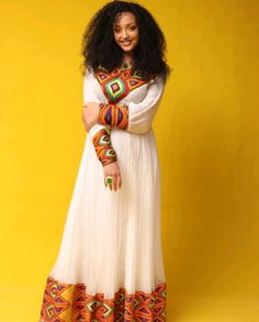 Habesha Kemis, Eritrean, Ethiopian Traditional Dress, Traditional Dresses, Ethiopian Dress, African Fashion, African Style, Street Hijab Fashion, Android Codes
