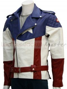 Captain America : The First Avenger Leather Jacket Hot Version - I wonder if they'll make a ladies' cut...