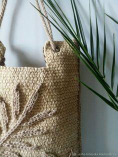 Online shopping on My Livemaster. Light Ombre, Summer Handbags, Hand Gloves, Buy Bags, Toe Socks, Ombre Effect, Boho Diy, Knitted Bags, Crochet Motif