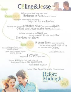 Before Midnight Sweepstakes & Exclusive Infographic - Mandatory Before Midnight, Before Sunset, Romantic Movies, Most Romantic, Before Trilogy, Julie Delpy, Cold Brew Coffee Maker, Expensive Gifts, All Movies
