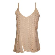 Mogul Women's Boho Strappy Tank Top Beige Embroidered V Neck Blouse S    https://www.walmart.com/search/?cat_id=0&page=2&po=1&query=MOGU+INTERIOR+TOP+BLOUSE+#searchProductResult