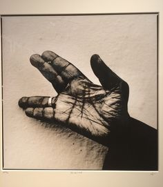 John Lee Hooker's Hand, Los Angeles, 1994. By Anton Corbijn. At C/O Berlin, january 2016.
