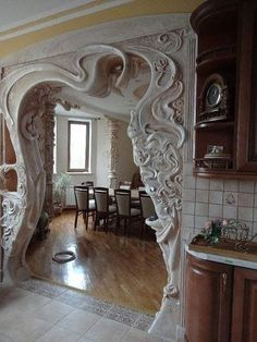 Super Ideas For Art Nouveau Furniture Architecture Plaster Art, Plaster Walls, Art Deco Furniture, Dining Furniture, Rooms Furniture, Furniture Ideas, Art Nouveau Arquitectura, Muebles Art Deco, Deco Originale