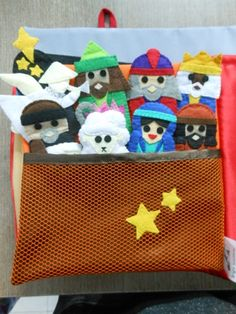 These cute Christmas Finger Puppets come as a set or with a play board in the form of a book.