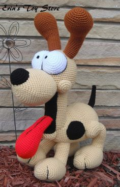 Odie a Crochet Pattern by Erin Scull by ErinScullsToyStore on Etsy