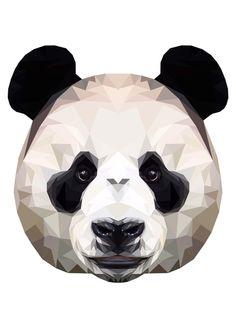 Panda Polygon Art by peachandguava Polygon Art, Panda Art, Mother Of Dragons, Low Poly, Types Of Art, Geometric Art, Digital Illustration, Art Prints, Drawings
