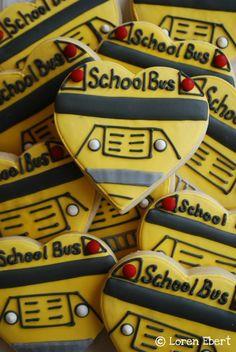 Back to School ~ School Bus Cookies