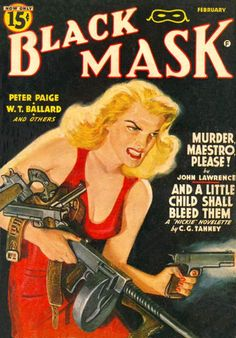 Pulp Cover Art - Vintage pulp fiction magazine cover art and related illustrations.