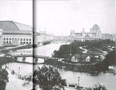 A bridge leads to Wooded Island for the 1893 World's Columbian Exposition. (Photo: The World's Columbian Exposition: The Chicago World's Fair of 1893, the White City Artfolio.)