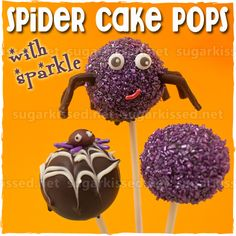 Learn step-by-step how to make adorable Spider Cake Pops with Sparkle!