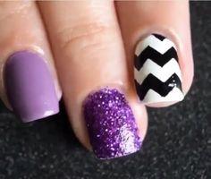 Purple & Chevron