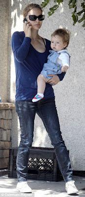 natalie portman with son aleph :)