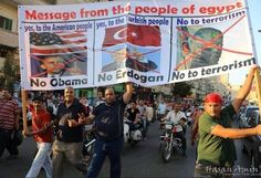 Message from the people of Egypt: Yes, to the American people, NO Obama