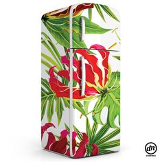 DesignD'Marca Fridge Wrapping - Tropical Foliage - Send us the Brand & Model and some photos of the Fridge - Contact us www.designdmarca.com #designdmarca #homewrapping #home #homedecor #fridge #stickers #vinyl #print