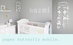 Baby Nursery- love this butterfly mobile to make for my friends nursery
