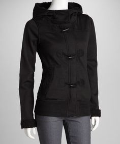 {Black Jacket by Yoki} Too cute to pass up for $14.99. Had to nab it on Zulily today.