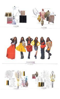 Fashion Sketchbook - fashion design development of final collection; the creative process; fashion portfolio // Francesca Morriss