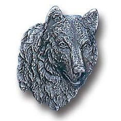 American Craftsmanship - Wolf Head Pewter Collector Pin