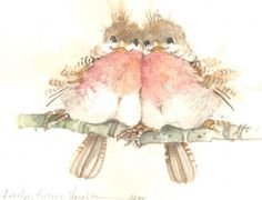 The Joy of It watercolor More Pictures, Pretty Pictures, Bird Illustration, Illustrations, Cute Birds, Cute Characters, Art Boards, Watercolor Art, Folk Art