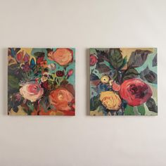 """""""Rose Garden I and II"""" by Jennifer Harwood, Set of 2   World Market"""