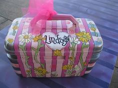 Vintage Train Case Special Order Bridal Baby Anything Suitcase